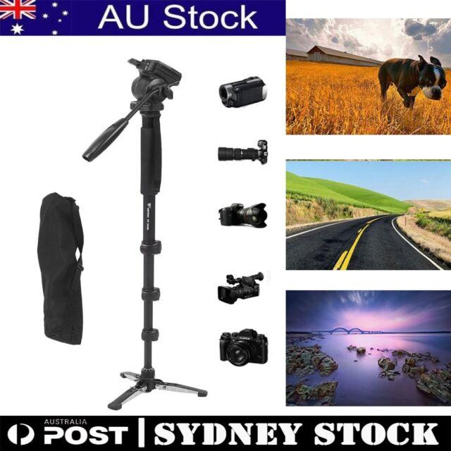 WF Camera Monopod Tripod Unipod Fluid Head Holder Travel DSLR Camcorder Video AU