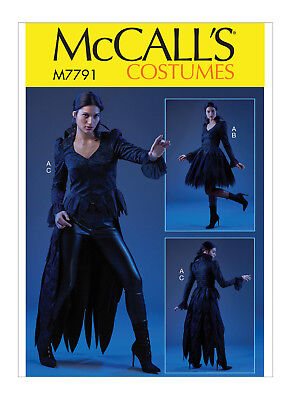 3 Gr.40-48 Mantel Schnittmuster Gothic-Cosplay