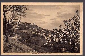 MANTA-SALUZZO-CUNEO-CARTOLINA-PANORAMA-FP-VG-1937-SALVAGNO-ED-BECCARIA