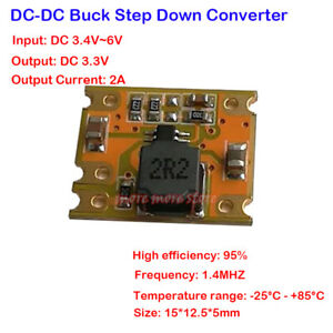 2A-DC-DC-3-4V-3-7V-5V-6V-to-3-3V-Buck-Converter-Constant-Power-Supply-Module