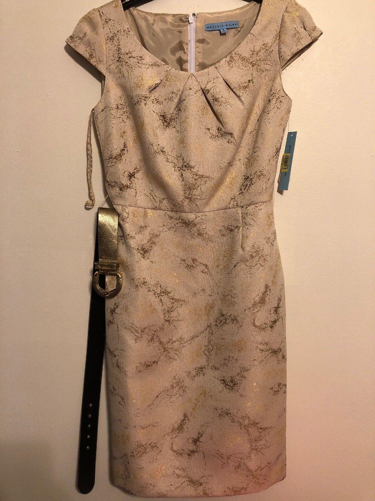Antonio Melani NEW Woherren Größe 0 Sheath Embellished Stripe Dress Retailer