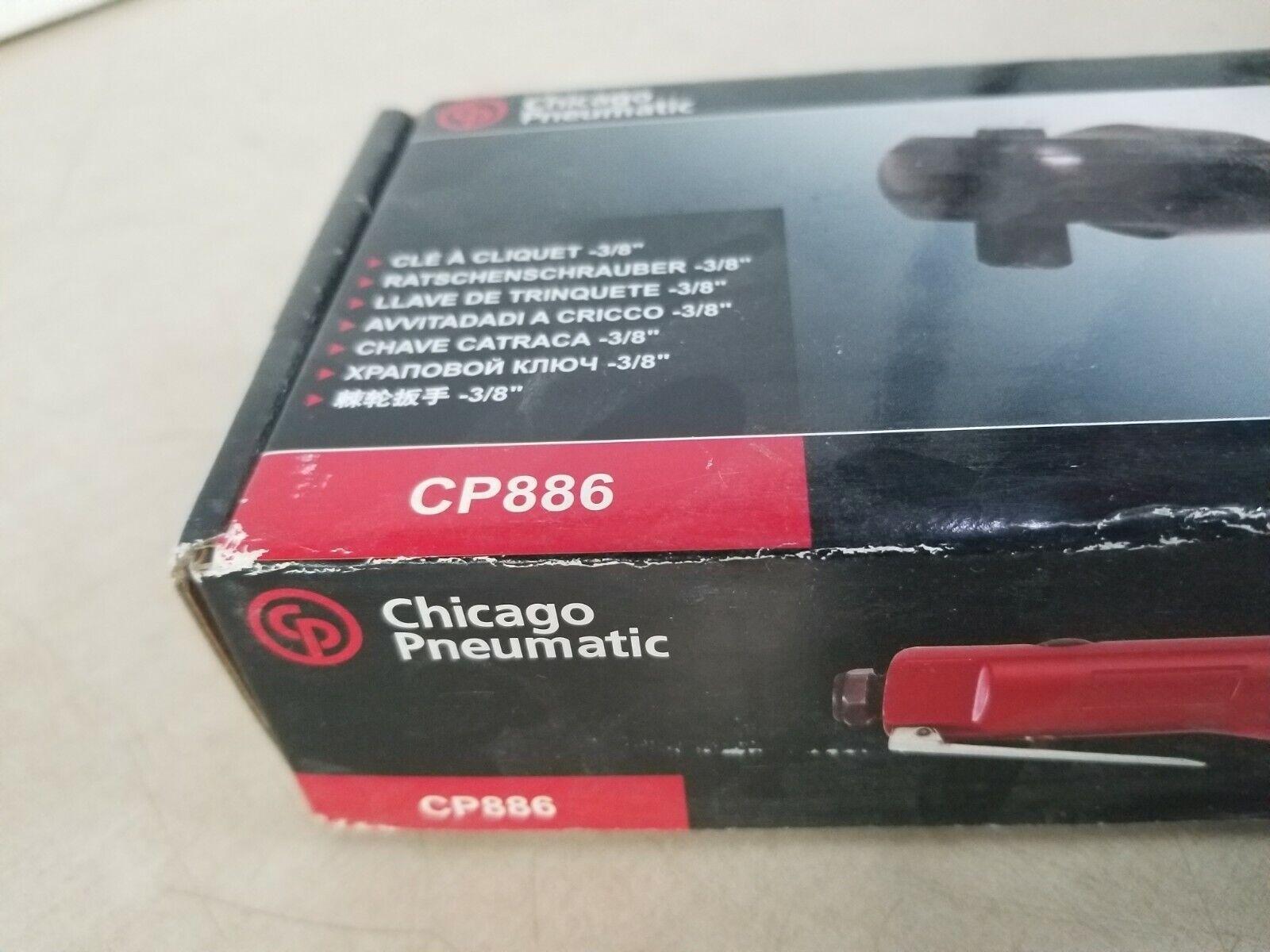 "Chicago Pneumatic 886 Air Ratchet 3//8/"" Drive 10-50 ft.lbs"