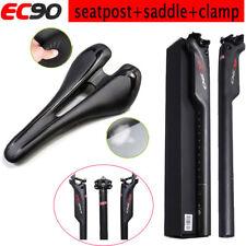 EC90 Carbon Fiber Bike Seatpost Lightweight Leather Saddles Seat Seatpost Clamp