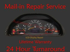 Details about 00-02 MB CLK320 CLK430 E320 E55 E430 Gauge Cluster LCD  Display Repair W210 W208