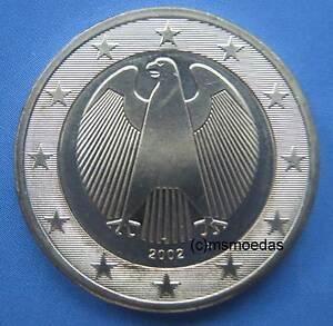 Deutschland 1 Euro Münze 2002 Euromünze Coin Vergoldet 24 Karat