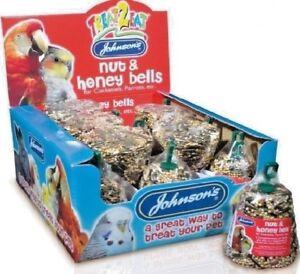 PARROT-NUT-amp-HONEY-BELLS-50g-x15-Johnsons-Cockatiel-Bird-Food-bp-Pet-Treat