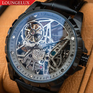NEW-Mens-Flywheel-Stainless-Steel-Skeleton-Exhibition-Automatic-Mechanical-Watch
