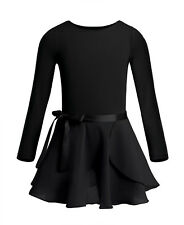 7e3bfbf3f Elowel Girls  Team Basics Long Sleeve Leotard Black Size 4-6