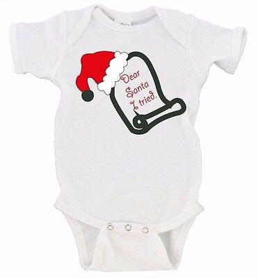 CUSTOM name Merry Christmas Gerber Onesie Dear Santa Define Good Love