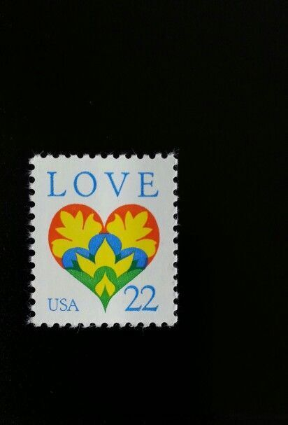 1987 22c Love, Heart Scott 2248 Mint F/VF NH