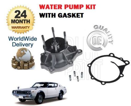 Per Nissan Skyline Coupe 240K GT 124 l24e 1972-1982 NUOVO Pompa Acqua Guarnizione Set