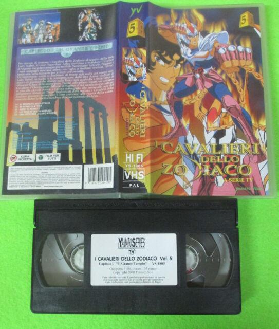 VHS film I CAVALIERI DELLO ZODIACO 5 la serie tv YAMATO VIDEO (F180)no dvd