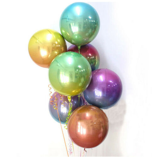 22 in sphère Forme Aluminium 4D Foil Balloon Wedding Birthday Party Decor environ 55.88 cm