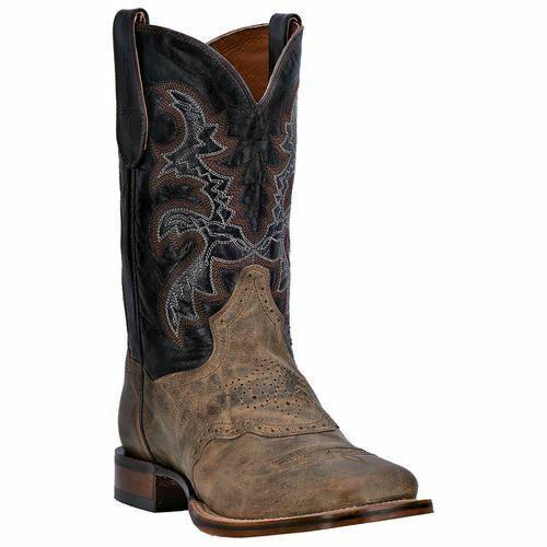 Dan Post Men's Franklin Western Cowboy Leather Boots DP2815 Sand Chocolate