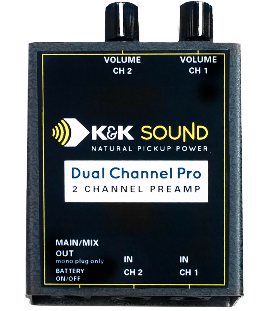 K&K Sound Dual Channel Pro Two Channel Guitar Preamp, Dual 1/4