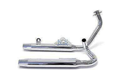Yamaha Virago XV 750/920 2-Into-2 Chrome Taper Exhaust System