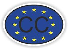 Cc corpo Consolare Codice paese ovale con l'Unione europea Bandiera Adesivo Paraurti