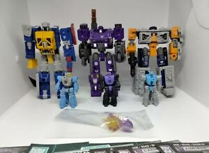 Lot of 6 Greasepit Brunt Airwave Caliburst Aimless blowpipe  Transformers seige