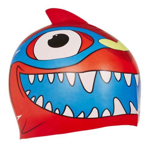 Speedo Sea Squad Junior Kids Character Swimming Swim Pool Cap Hat Red