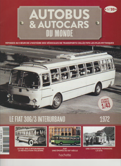 FASCICULE N° 20 AUTOBUS AUTOCARS DU MONDE FIAT 306/3 INTERURBANO 192