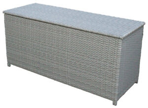 Turbo KMH® Polyrattan Kissentruhe grau 130x50 Auflagenbox Kissenbox LR59