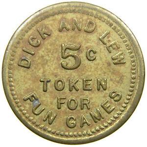ALLIANCE, OHIO, Dick & Lew, 5¢ Merchant Token, Amusement. Stark County.