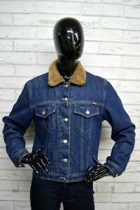 Giacca-Donna-ONYX-Taglia-L-Giubbotto-Jacket-Woman-Imbottito-Giubbino-Jeans-Blu