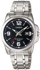 Casio Women's Silver Stainless Steel Quartz Black Dial 50M Watch  LTP1314D-1AV