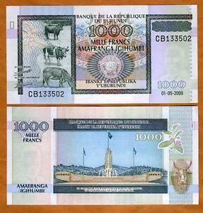 Burundi-Africa-1000-1-000-Francs-2009-P-46a-UNC
