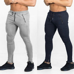 b676aeea5 Details about Men's Casual Sports Pants Gym Slim Fit Trousers Running  Jogger Gym Sweatpants
