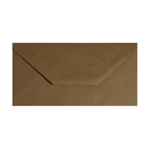 DL Brown Ribbed Kraft Envelopes Greeting Card Invitations Crafts 110mm x 220mm