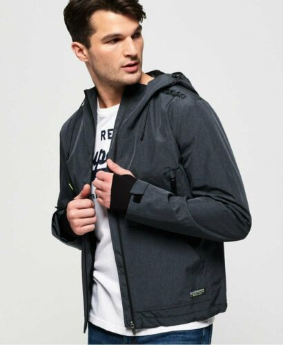 Superdry Mens Arctic Elite SD-Windcheater Dark Charcoal Windcheater