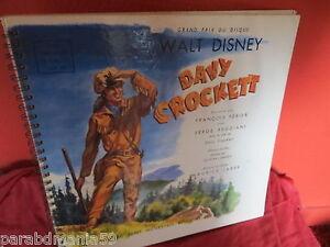 Details Sur Davy Crockett 1956 Walt Disney Petit Menestrel Livre Audio Cahier A Spirale