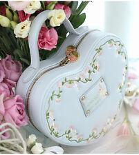 Vintage Lolita Embroidery Bunny Rabbit Love Vine Heart Shaped Shoulder Purse Bag
