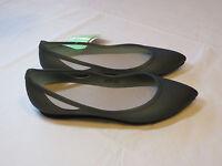 Crocs Womens Rio Flat W Black Platinum Standard Fit W 8 W8 Shoes Croslite Footbd