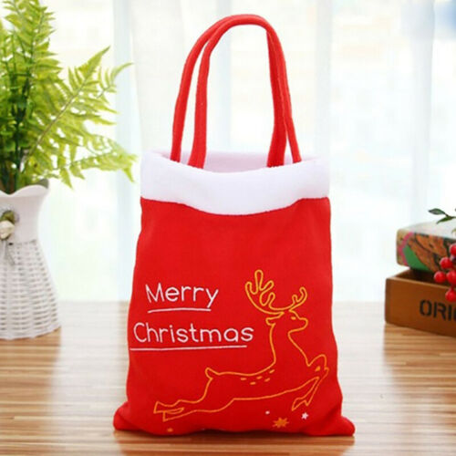 Merry Chrismas Gift Candy Bags Pouch Mini Handbag Xmas Party Biscuit Bag TO