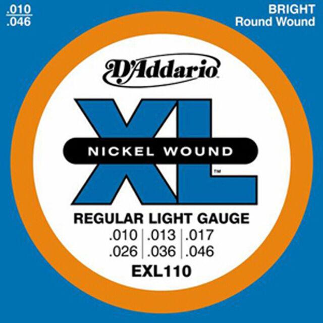 D'Addario EXL110 Regular Light Gauge Electric Guitar Strings