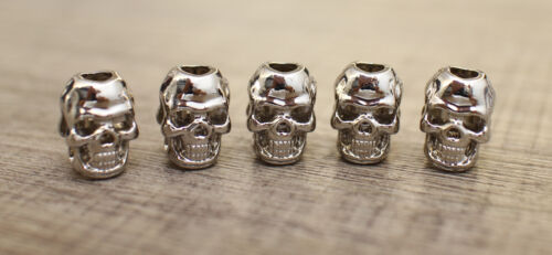 Skull Bead 10pc S Double Face 9 Color Paracord Lanyards Bracelets Jewelry Crafts