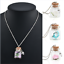 Glow in the Dark Fashion Flower Glass Tiny Wishing Bottle Vial Pendant Necklace