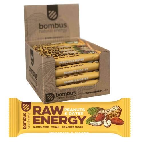 Bombus Energieriegel Erdnüsse /& Datteln Karton 20 x 50g
