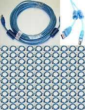 Lot100 25ft long USB2.0 A Male~Female Extension Camera/Webcam/Printer Cable{BLUE