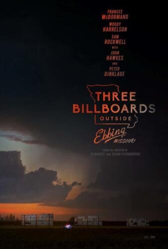 "MISSOURI 13.5/""x20/"" Original Promo Movie Poster THREE BILLBOARDS OUTSIDE EBBING"