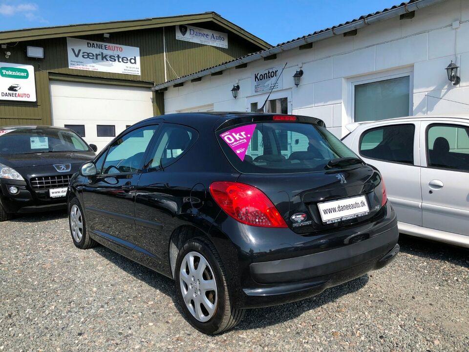 Peugeot 207 1,4 XR+ Benzin modelår 2008 km 171000 Sortmetal