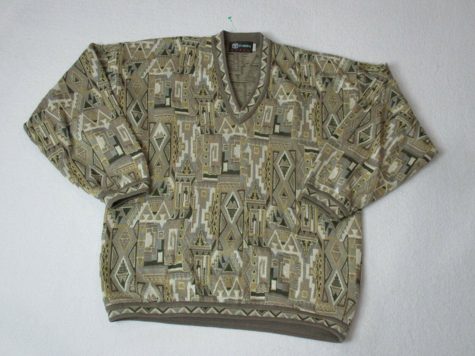 VINTAGE Tundra Sweater Adult Large Brown Knit MacGregor Biggie Casual Mens 90s