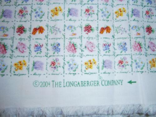 2004 Longaberger Collector Club Mini Floral Fabric