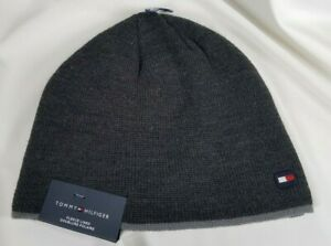 Tommy Hilfiger Fleece Lined Beanie Hat Charcoal Gray One Size,  FREE SHIPPING!