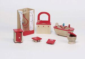 Puppenhausm bel puppenm bel badezimmer natur 7 teilig - Holzmobel badezimmer ...