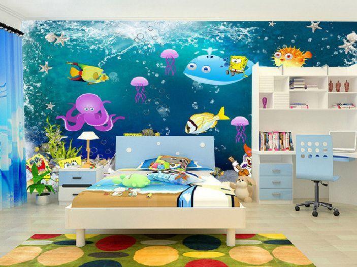 3D Nette Meerestiere 436 Fototapeten Wandbild Fototapete BildTapete Familie