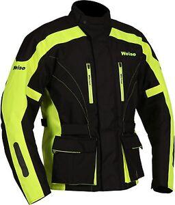 Weise-Hornet-II-Mens-Black-Neon-Yellow-Textile-Motorcycle-Jacket-New-RRP-189-99