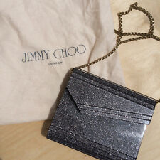 Jimmy Choo Candy Acrylic Clutch Bag Grey/Mauve Glitter